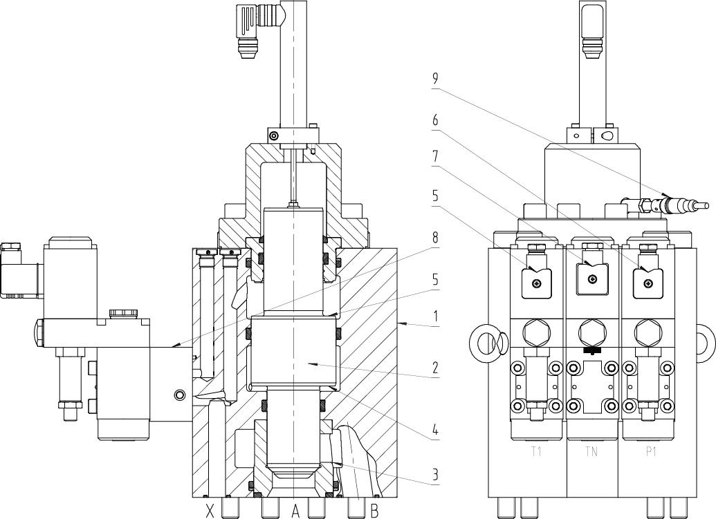 2/2 Wege Regelventil C3 DN12-125 PN500